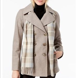 Fabulous London Fog Peacoat w/scarf